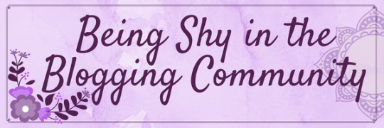 Shy Blogger